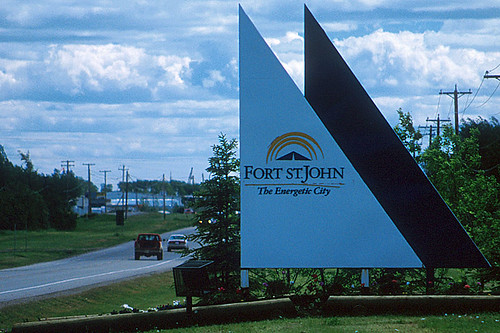 Fort St. John, Alaska Highway 97, Northern British Columbia, Canada