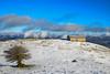 Nieve por Urbasa y el Beriain