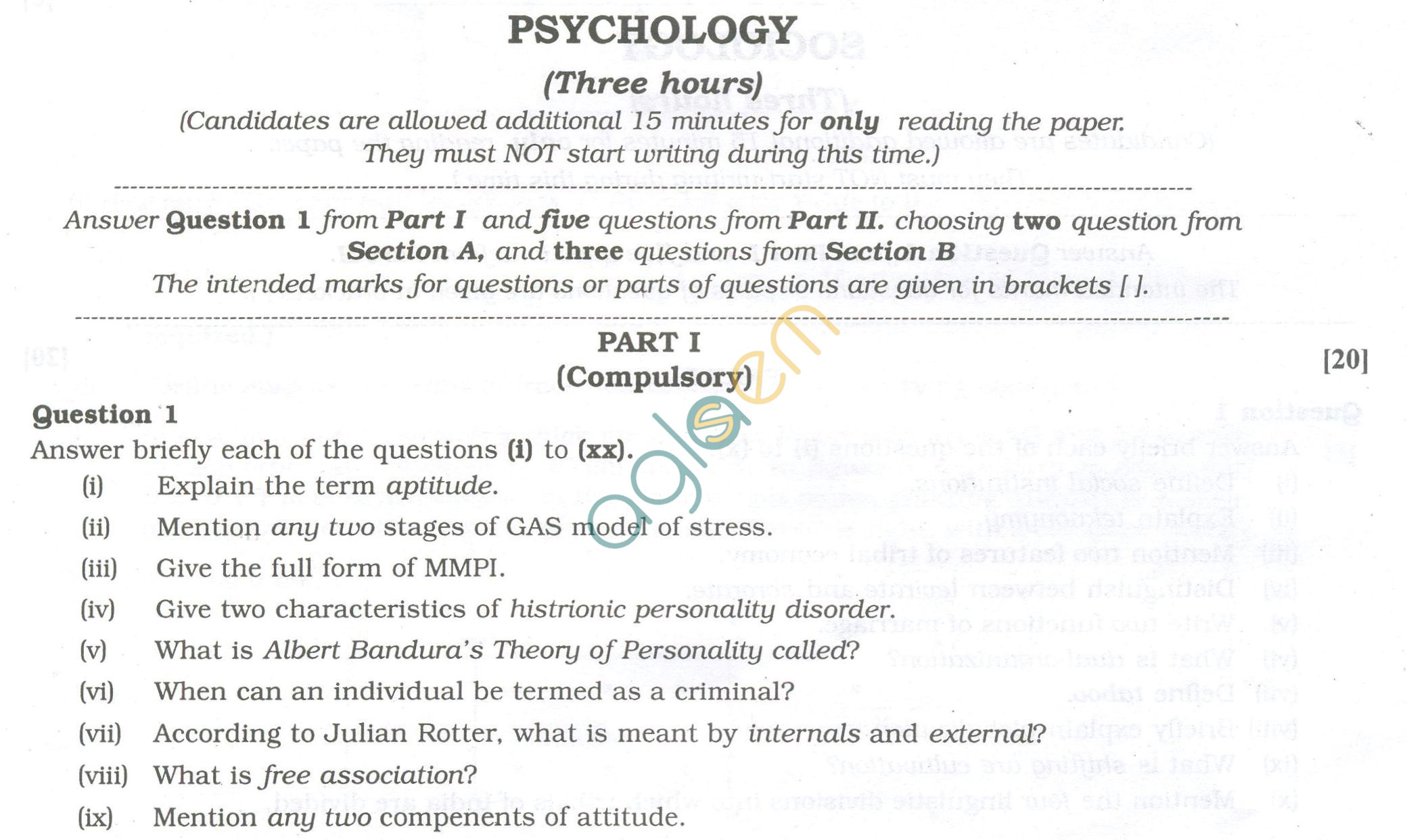 example of psychology paper  please use all original work because myself and my professor check for plagiarism
