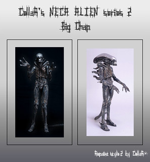 .☠. CellaR's NECA ALIEN series 2 Big Chap action figure repainted by CellaR ☠ repaint style 2 ☠ H R Giger ☠ ネカ エイリアン シリーズ2 ビッグチャップ ☠ リペイント .☠.