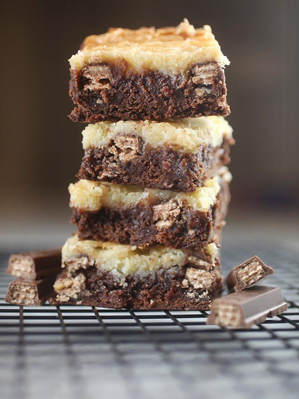 Kit Kat Cream Cheese Brownies