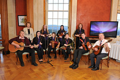 Traditional musicians from Castlewellan Comhaltas Branch