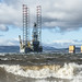 Oilrigs and rough seas in the Cromarty Firth by macgregor67