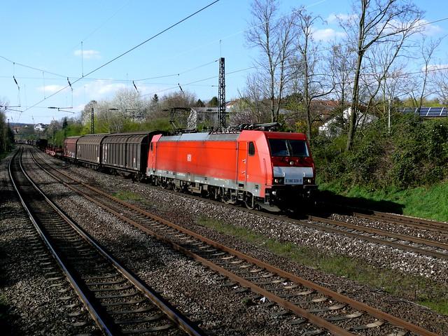 E 186 326-5  DB Schenker rmit Programmverkehr durch Saarbrücken Ost am 28.03.2014