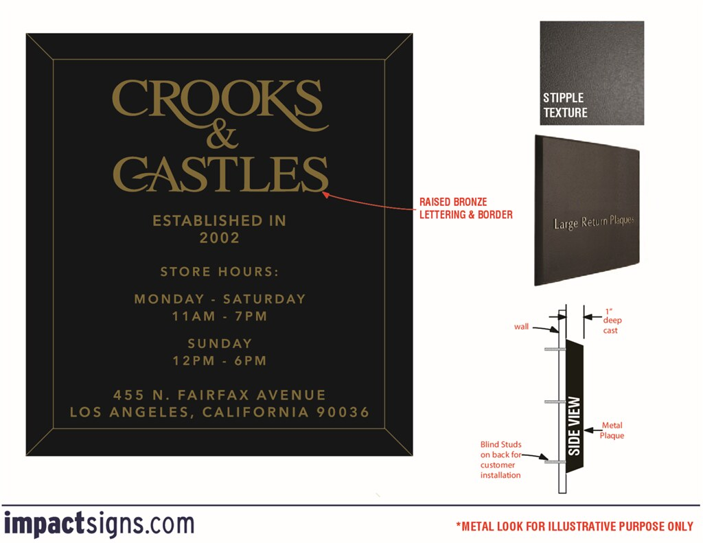 Custom Steel Letters Best Aluminum Plaques  Order A Cast Aluminum Plaque Online Decorating Inspiration