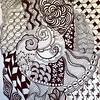 Section from today's Zentangle 4/5/14 #zentangle #zia #artjournal #art #penandink