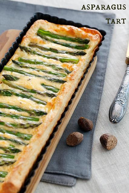 Asparagus tart. Asparagus quiche.