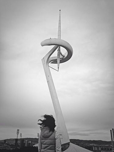 Windy at Torre de comunicacions de Montjuïc