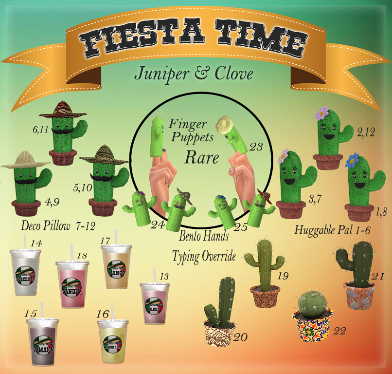 {Juniper/Clove} Fiesta Gacha @ The Epiphany April! - SecondLifeHub.com