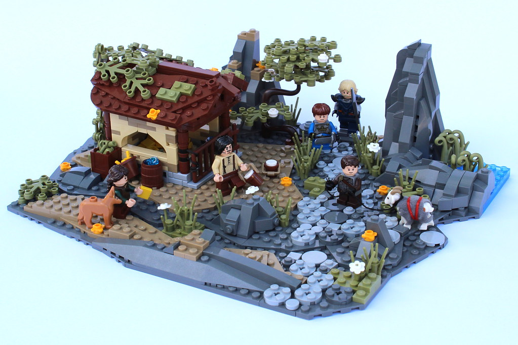 9 Kingdoms – Kurvenheim – Goat stable (custom built Lego model)