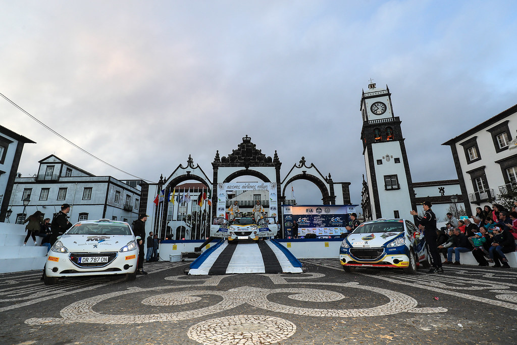 Junior 27 Podium during the 2017 European Rally Championship ERC Azores rally,  from March 30  to April 1, at Ponta Delgada Portugal - Photo Jorge Cunha / DPPI
