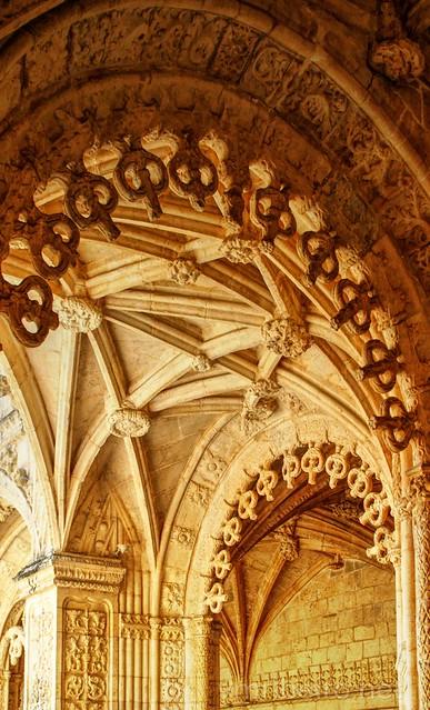 Detalhe do claustro do Mosteiro dos Jerónimos