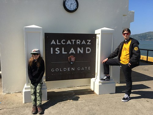 Sequoia and Nick at Alcatraz 2017