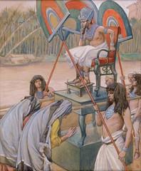 Phillip Medhurst presents 099/740 James Tissot Bible c 1899 Pharaoh and the midwives Exodus 1:15 Jewish Museum New York