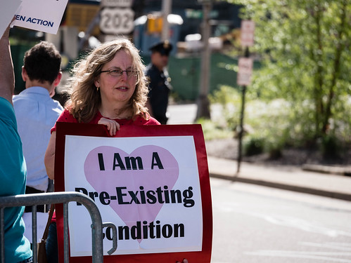 Rally for ACA at Congressman Frelinhuysen's Office, Morristown NJ