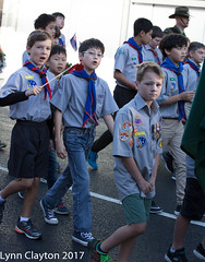 Boy Scouts at the Newmarket Anzac Parade 2017