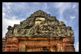 Siem Reap K - Banteay Samre Tempel door lintel