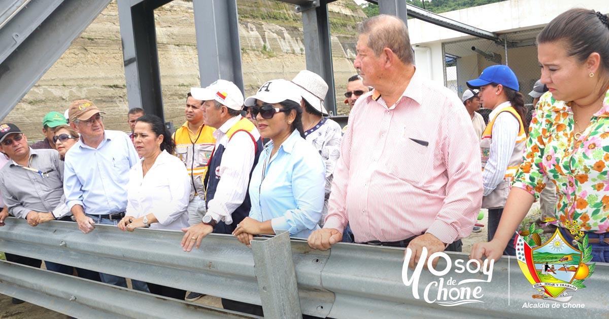 Alcalde de Chone y concejales realizan recorrido por la Represa Río Grande