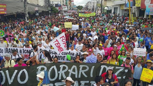 Mobilização em Santarém (PA) - Créditos: Lilian Campelo