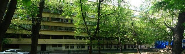Дом Наркомфина, панорама