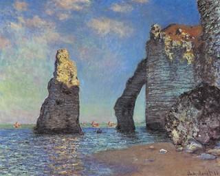 Acantilados de Normandía vistos por Monet.