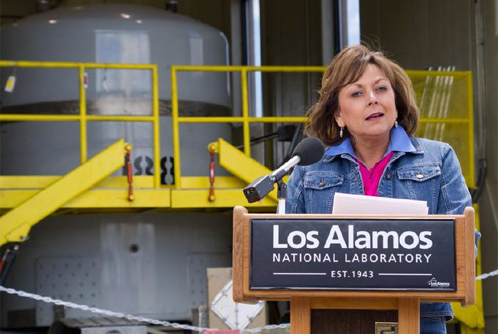 Governor Susana Martinez visited the Lab in May to urge additional funding for cleanup