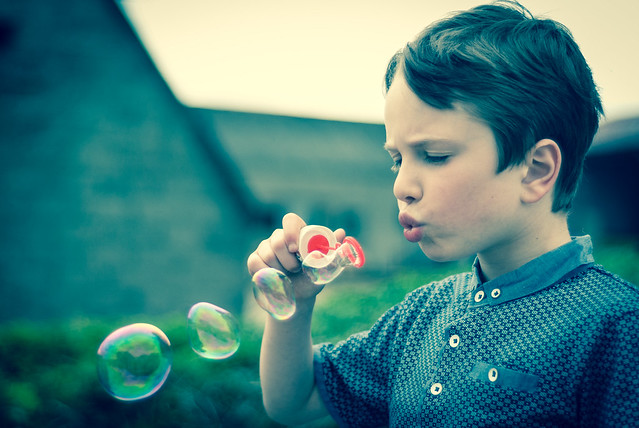 Jaden blowing bubbles