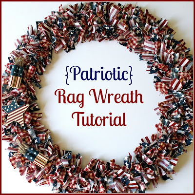 Patriotic Rag Wreath Tutorial from Oh So Crafty Life