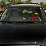 elmo at the wheel