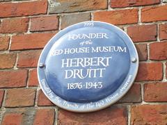 Photo of Herbert Druitt blue plaque