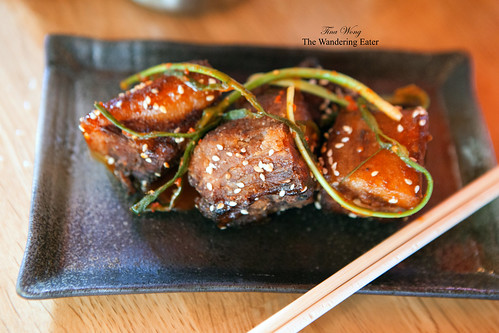 BBQ Pig Tails – ramp kimchi, sesame