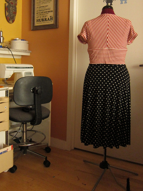 Tira dress bodice and Insta Skirt in progress