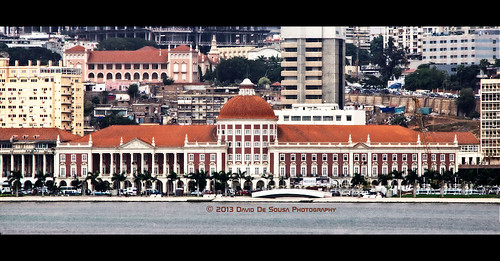 africa bridge west building tree history water bay central bank pedestrian palm angola luanda