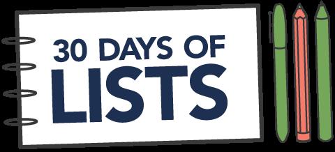 30daysoflists