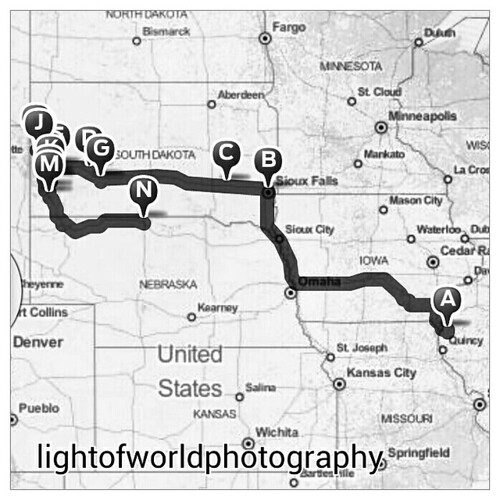 South Dakota Ramble route