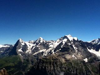 Eiger, Mönch und Jungfrau vom Schilthorn aus