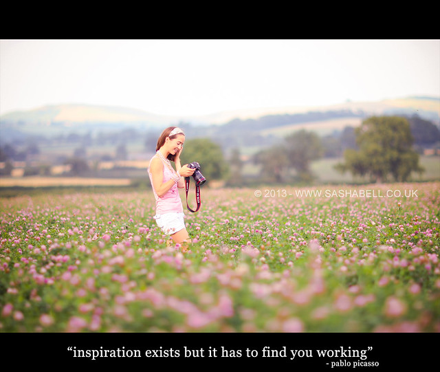"""Inspiration exists but it has to find you working"""