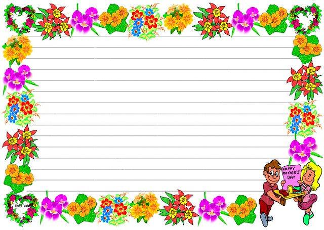 Mother's Day' Themed Lined paper and Pageborders | Flickr - Photo ...