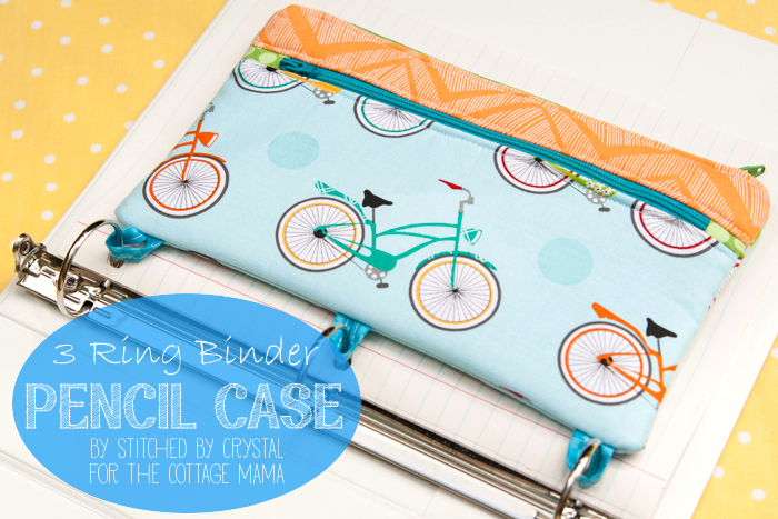 three ring binder pencil case sewing tutorial the