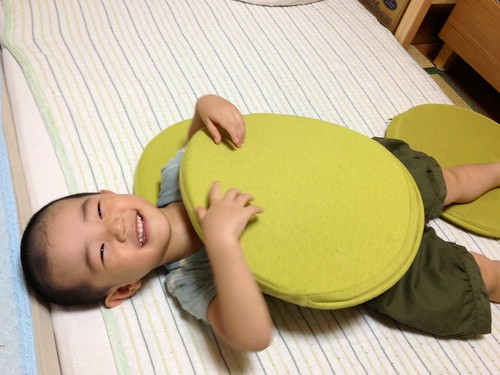 座布団ハンバーガーとらちゃん 2013/9/5