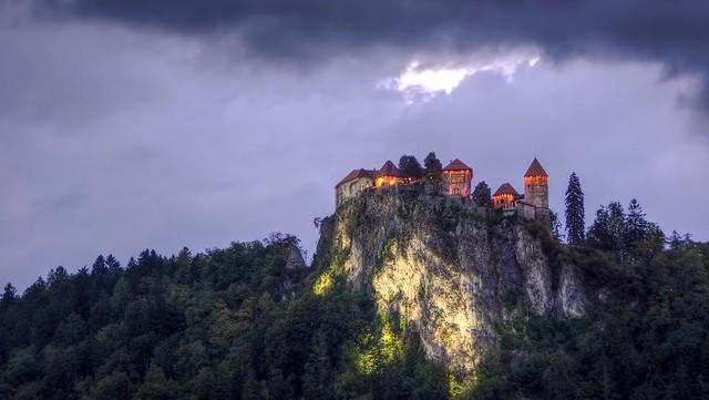 Castillo de Bled, (nocturna)