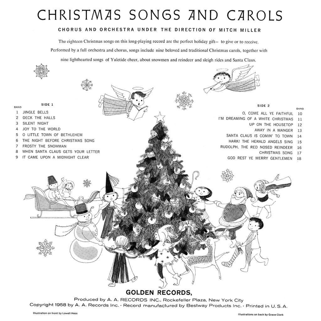 Christmas Songs and Carols | LP Cover Art