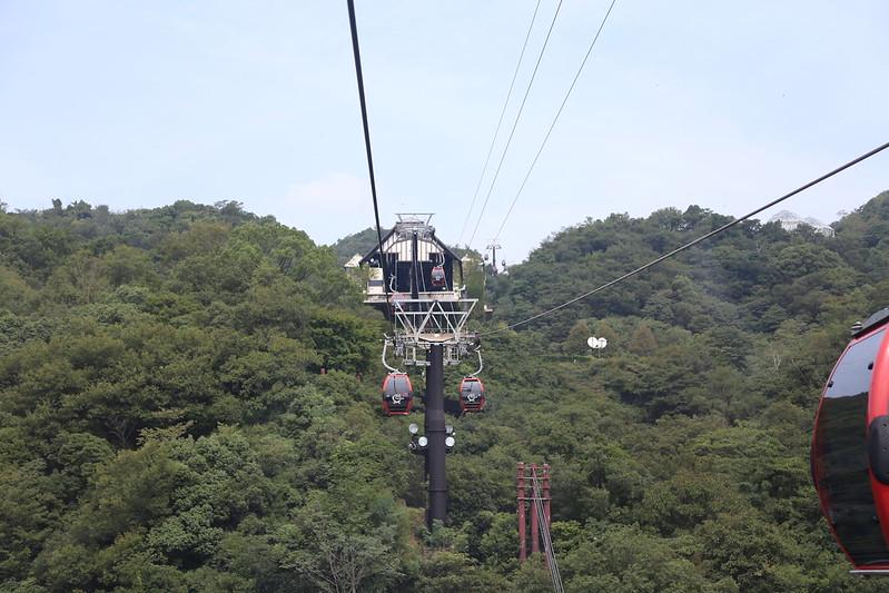 布引ハーブ園ロープウェー神戸市内の景色中間駅