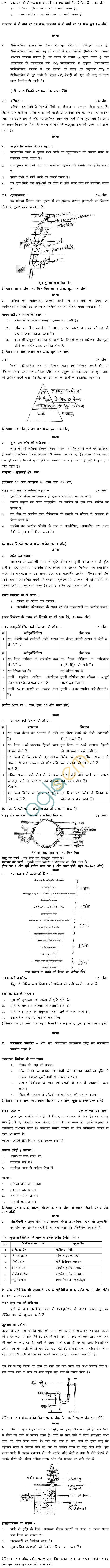 MP Board Class XII Biology Model Questions & Answers - Set 3