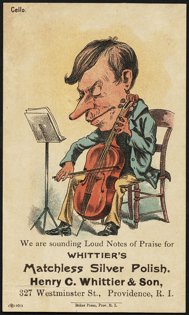 Photo:We are sounding loud notes of praise for Whittier's Matchless Silver Polish. Henry C. Whittier & Spon, 327 Westminster St., Providence, R. I. [front] By Boston Public Library
