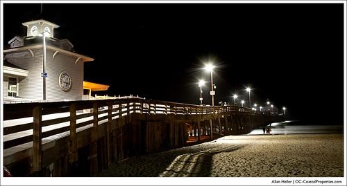 Newport Pier on a warm summer night