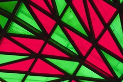 pattern, symmetry, triangle, line, glass, green, design, stained glass,