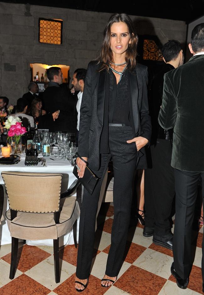 99 Izabel Goulart in Roberto Cavalli @ Roberto Cavalli dinner 2014-02-22 Milan