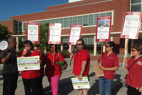 RNs outside of Richmond, CA City Hall