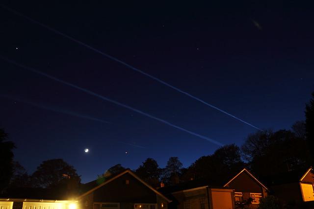 Tonight's sky. 2 May 2014